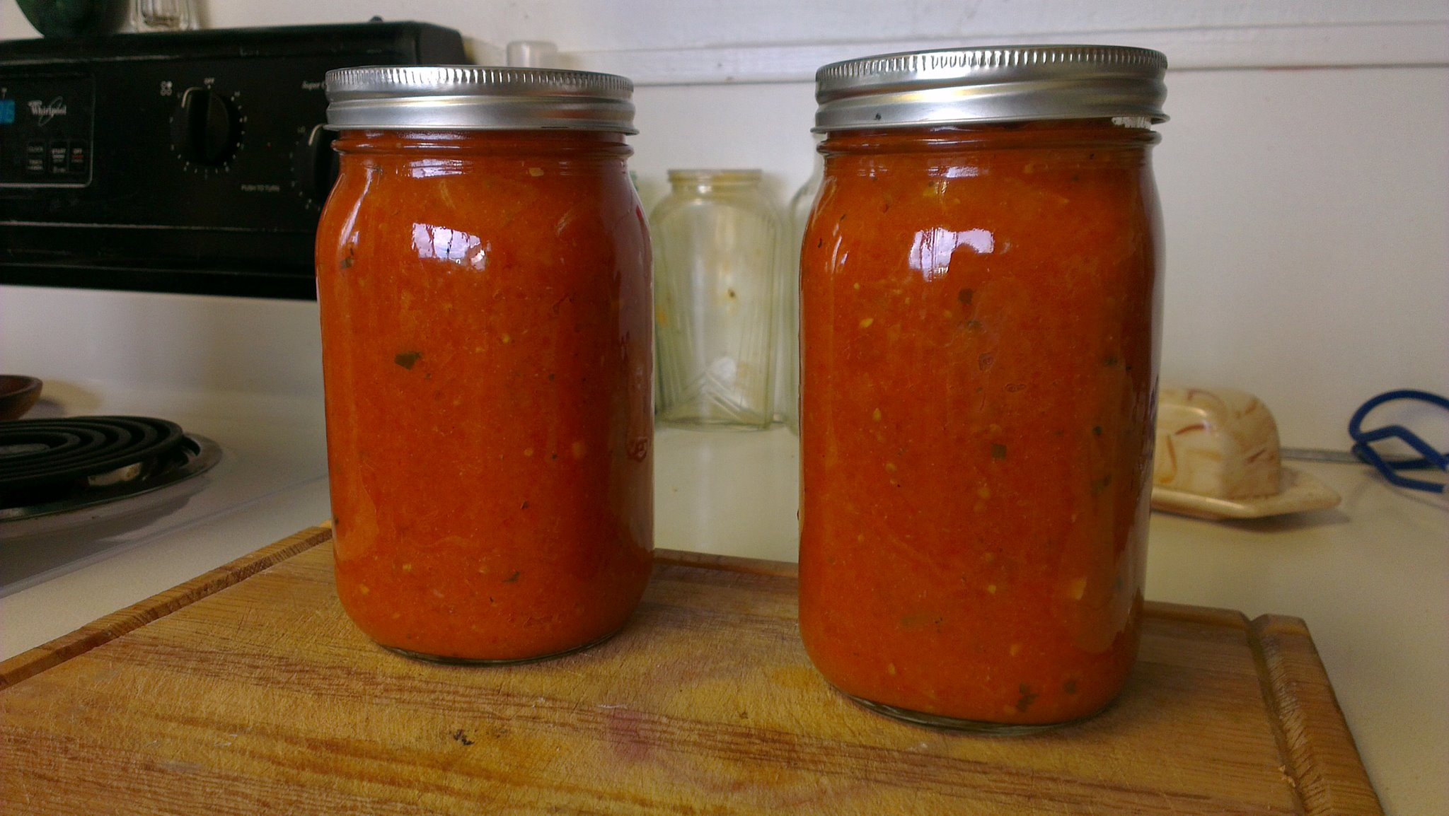 My first attempt at tomato sauce from scratch.