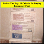 Before You Buy: 10 Criteria for Buying Emergency Food