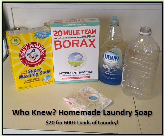 Who Knew? Homemade Laundry Soap