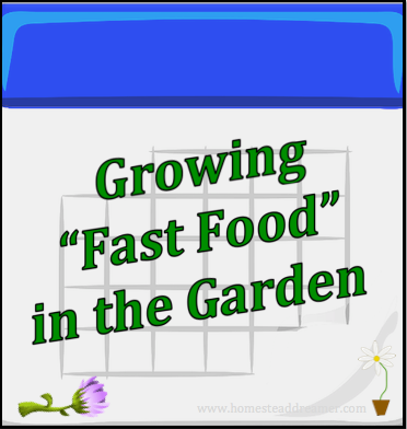 Growing Fast Food in the Garden