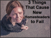 3 Things That Cause New Homesteaders to Fail