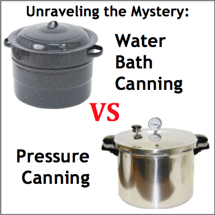 Unraveling the Mystery: Water Bath vs Pressure Canning ...