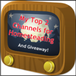 My Top 2 Channels for Homesteading (and giveaway!)